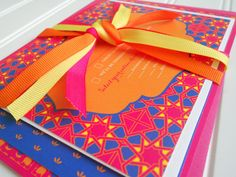 Colorful Moroccan Inspired Wedding Invitation by WhoaNelliePress, $10.00