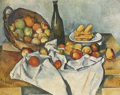 Still life with basket of apples PAUL CEZANNE Kunstdruck Reproduktion Art Print | eBay