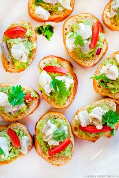 I'm so excited about 2 things today. #1 this recipe. These Guacamole & Shrimp Ceviche Toasts are the most delicious appetizer for... read more.