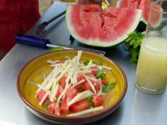 Jicama and Watermelon Salad Recipe : Bobby Flay : Food Network - this was refreshing!