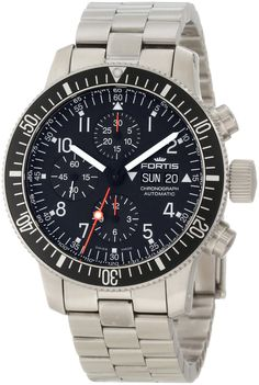 Fortis Men's 638.10.11M B-42 'Official Cosmonauts' Stainless Steel Automatic Watch >>> Click image for more details.
