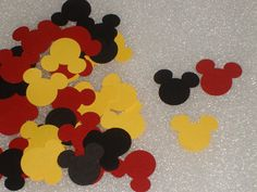 Mickey Mouse Party Confetti for children's by LadyJPaperGarden