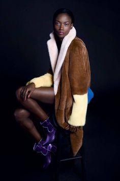 CELINE COAT / Carine Roitfeld pre-fall 2014 fashion shoot - Harper's BAZAAR