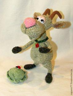 Игрушки животные, ручной работы. Ярмарка Мастеров - ручная работа коза Зинка. Handmade.