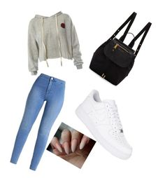 """Untitled #30"" by annialevine on Polyvore featuring Sans Souci, NIKE and Marc Jacobs"