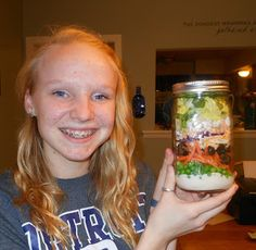 My Not-So-Simple Life.: Mason Jar Salads! I have tried this for two weeks now. They work GREAT!!!  My husband loves this idea. I put together on Sunday and we both have lunch for the rest of the week.