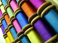 beautiful colors of silk ...