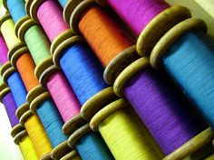 beautiful colors of silk ...