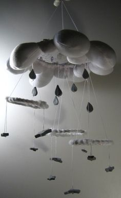 Adapting this with Feather Mobile design--Dream Cloud  OOAK Handmade Cloth Dreamcatcher by grandmaspider, $90.00