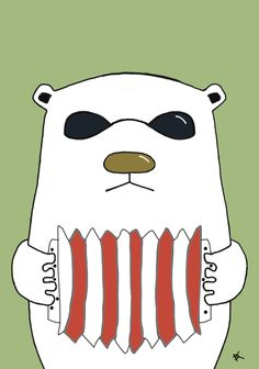 Title: Russian Bear #illustration #picture #russia #bear #animals #drawing daaashiky@gmail.com