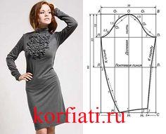 Выкройка узкого рукава для платья   Узкий рукав для платья – строим выкройку