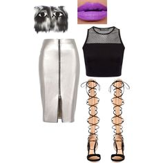 Untitled #102 by msjaylarae on Polyvore featuring polyvore, fashion, style, River Island and Gianvito Rossi