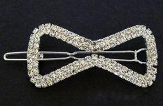 Svatební bižuterie štrasová spona do vlasů mašle 5755-2 | Bižuterie Kozák