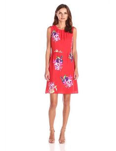 Women's Sleeveless Floral Printed Dress:Summer Fashion: Spring Outfits:Casual Outfits:Cute Outfits: Summer Outfits: Spring Outfits:Spring Outfits