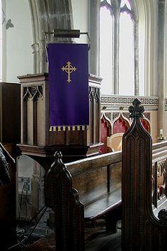Moreton church - Pulpit Sherborne, U.K.