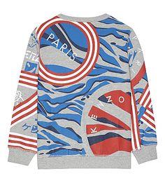 KENZO - Animal print cotton sweatshirt 4-16 years   Selfridges.com Wardrobes, Kenzo, Printed Cotton, Parisian, Stripes, Fashion Outfits, Animal, Sweatshirts, Sweaters