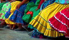 .  Detalle de faldas tarahumaras