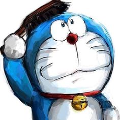 Doraemon chải tóc kìa !!