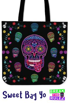 a867c1531337 Flash Sale! Grab this Sugar Skull Superstar Tote Bag for next to nothing! Oh