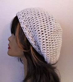 Your place to buy and sell all things handmade Slouchy Beanie Hats, Beret, Bohemian Gypsy, Boho, Hair Tuck, Crochet Woman, Ear Warmers, Hats For Women, Renaissance