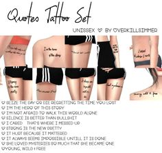 Overkill Simmer  Quotes Tattoo Set    Unissex  Found under tattoos with custom thumbnail