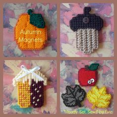 "Plastic Canvas: Autumn Magnets - ""Ready, Set, Sew!"" by Evie"