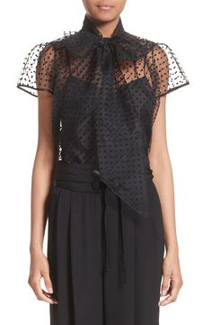 New MARC JACOBS Flocked Dot Tulle Top WHITE fashion online. [$395] new offer from topshoppingonline<<