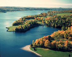 Fall in Mactaquac Provincial Park // New Brunswick, Canada New Brunswick Tourism, New Brunswick Canada, Fredericton New Brunswick, The Places Youll Go, Places To Visit, Acadie, Discover Canada, Atlantic Canada, Helicopter Tour
