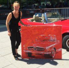 Mercedes Pagode Acryl auf Leinwand 100/120 cm