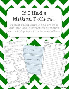 If I Had a Million Dollars - Math Project (could include savings and interest calculations too)