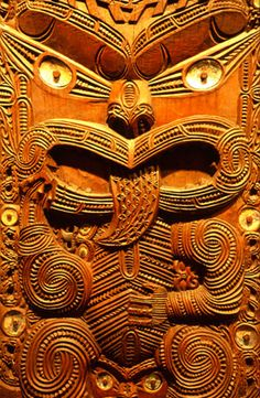 Maori mask, Otago Museum, Dunedin, Otago, New Zealand