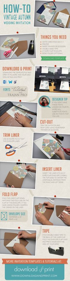 DIY Wedding Invitations - Free Printables, Wedding Fonts, and Money-Saving Ideas - Craft Ideas Weekly