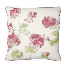 Geranium Red Applique Cushion