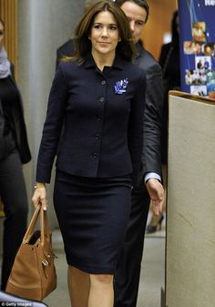 Princess Mary of Denmark flew to Geneva in Switzerland to attend a conference at the Unite...