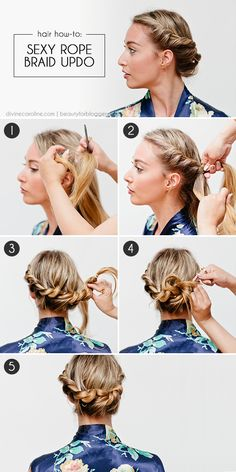 We are loving braids this season. Here is maybe the easiest one... it only requires a two-strand twist! #sexyhairstyles #braids #summerhair
