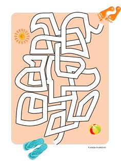 An easy maze with a beach theme: Feet on the Beach. AWESOME site for all kinds of puzzles! Mazes For Kids, Math Activities For Kids, Summer Activities, Dots And Boxes, Word Ladders, Free Printable Puzzles, Maze Worksheet, Maze Puzzles, Magic Squares
