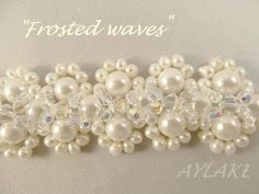 "▶ Bracelet ""Frosted waves"" step by step tutorial - YouTube"