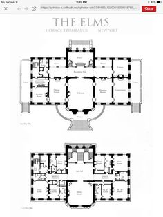 the elms 1st and 2nd floors - Second Floor Floor Plans