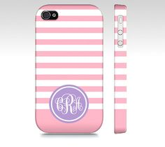 Monogrammed iPhone 4 and Iphone 4s Case  Pink and by SuprCases, $29.95