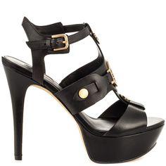 Ondraz - Black Leather Guess Footwear  SKU: ZGS1377 $119.99