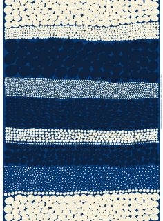 Jurmo heavyweight cotton (blue,white,d.blue) | Fabrics, Cottons | Marimekko