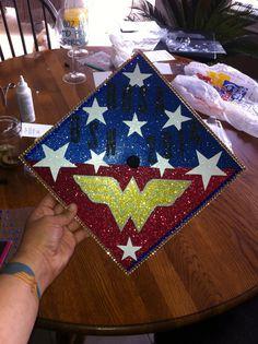 My graduation cap decorated! wonderwoman!