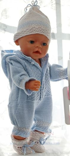 Child Knitting Patterns Child born garments to knit by your self - Here's a cute child outfit in your child doll Baby Knitting Patterns Supply : Baby born Kleidung selber stricken - Hier ist ein Knitting Dolls Clothes, Knitted Dolls, Doll Clothes Patterns, Clothing Patterns, Baby Knitting Patterns, Baby Born Clothes, Cute Baby Clothes, Baby Born Kleidung, Cardigan Bebe