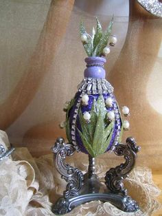 """""""Lilies of the City"""" Faberge Egg"""