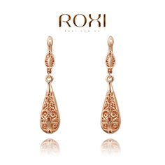 Christmas Sale rose gold drop earrings,,Nickle free antiallergic fashion jewelry earrings,Chrsitmas Gift US $1.99