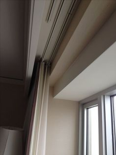 Curtain with wood hiding track (media room) | For the Home ...