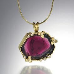 @QUADRUM - BarbaraXHeinrich Watermelon Tourmaline necklace