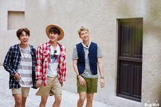 JHope, Jin e Rap Monster BTS