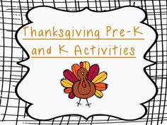 thanksgiving pre-k and k activities