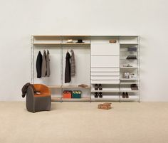 Tria 36 floor wall mounted by Mobles 114   Walk-in cupboards